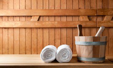 Rückenpflasterstudie mit Saunagang